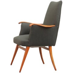 Mid-century Executive Chair of the 1950s in Very Elegant Cherrywood