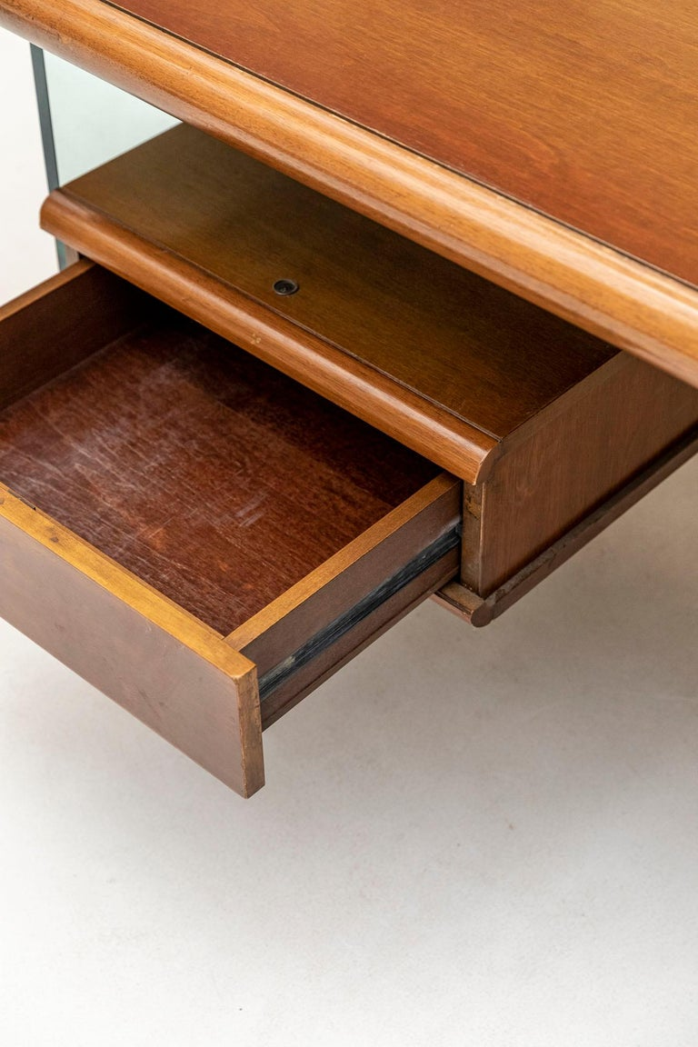 Executive Desk Attributed to Fabio Lenci for Comfort Line 3