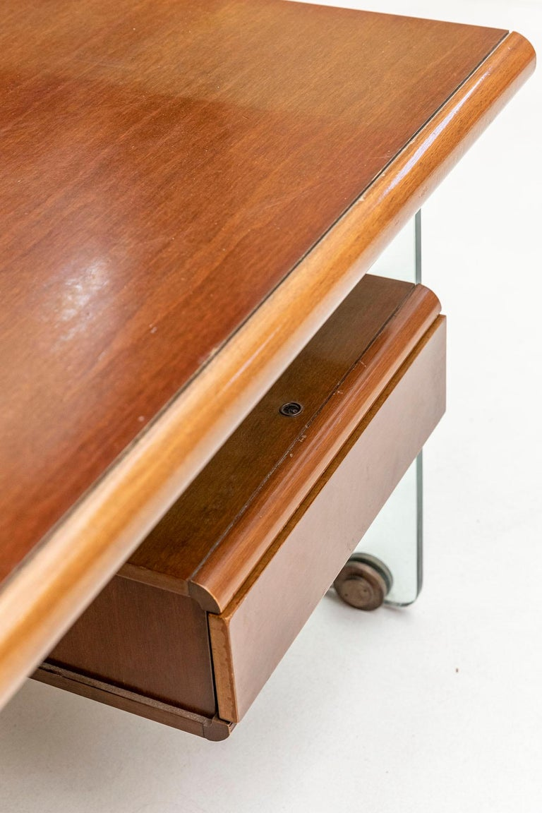 Executive Desk Attributed to Fabio Lenci for Comfort Line 6