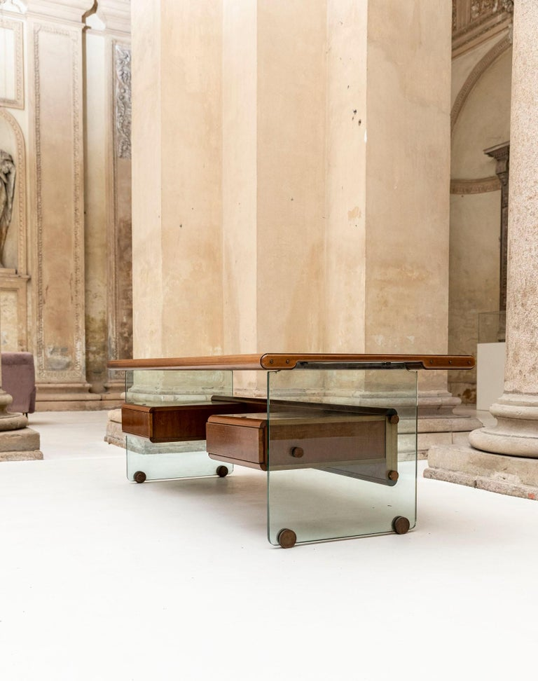 Executive Desk Attributed to Fabio Lenci for Comfort Line 1
