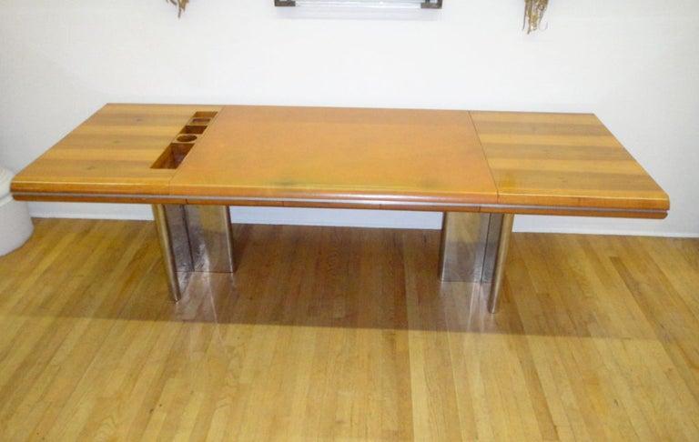 Mid-Century Modern Executive Desk by Hans von Klier for Skipper Italian, circa 1970 For Sale