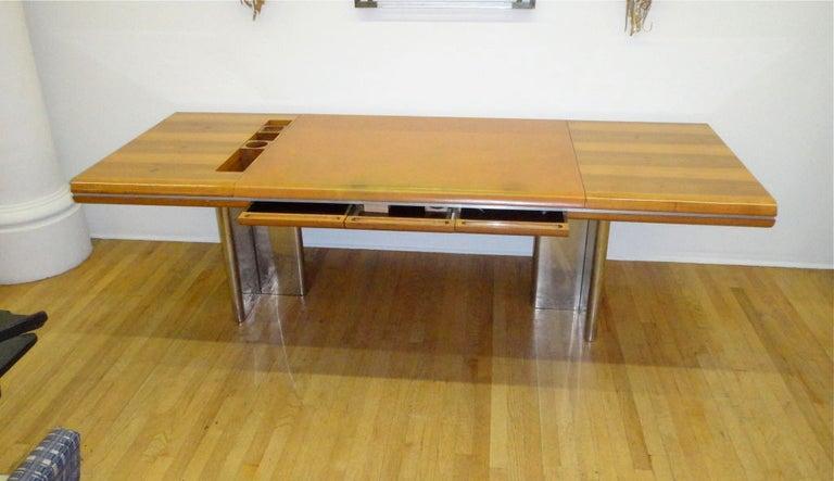 Executive Desk by Hans von Klier for Skipper Italian, circa 1970 For Sale 1