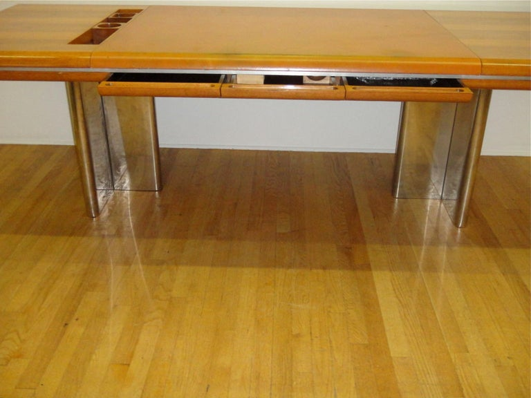 Executive Desk by Hans von Klier for Skipper Italian, circa 1970 For Sale 3