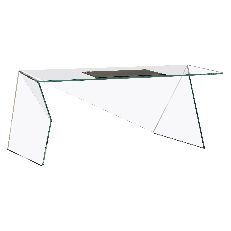 Executive Desk Table Modern Glass Crystal Limited Edition Design