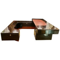 Executive Ebony Desk by Fabio Lency for Bernini, 1970s