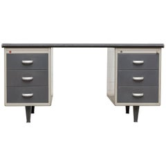 Executive Gispen Industrial Metal Desk