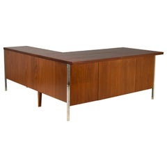 Executive Knoll Walnut Desk with Return