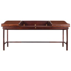 Executive Rosewood Tambour Doors Desk Model #452 by Edward J. Wormley