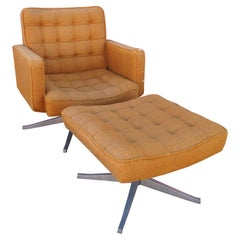 Executive Swivel Chair and Ottoman by Vincent Cafiero for Knoll