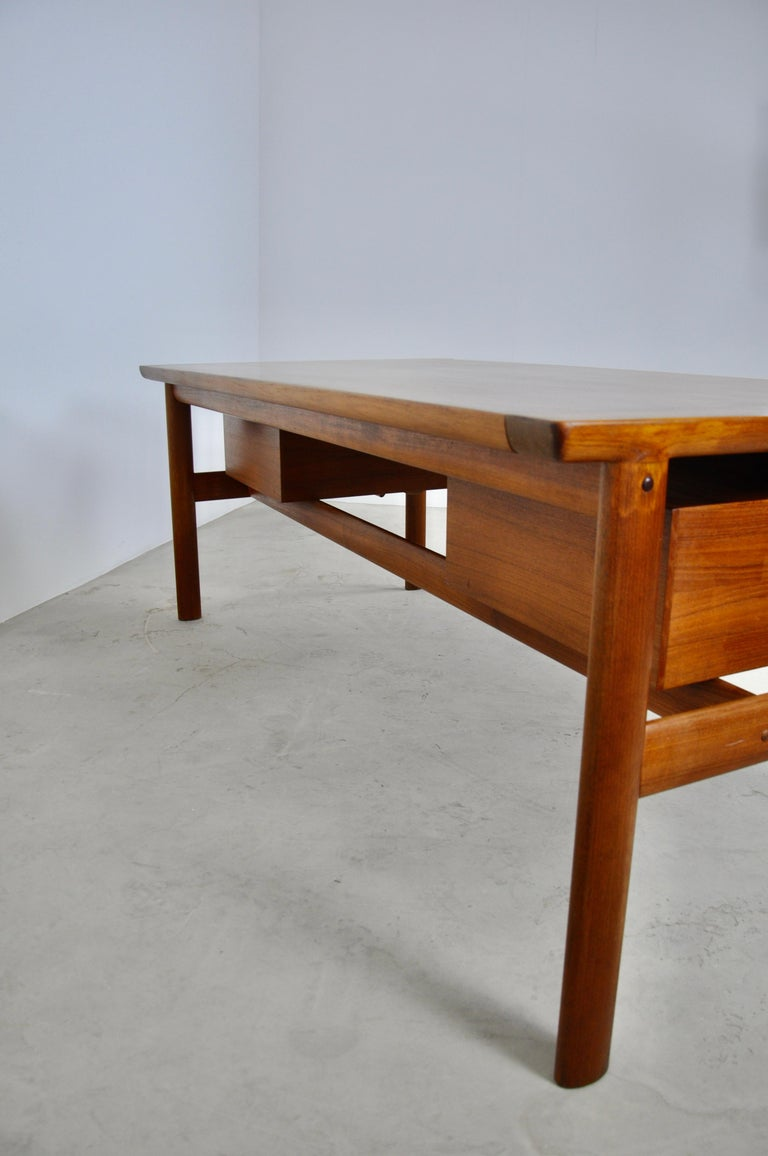 Executive Teak Desk by Arne Vodder for Sibast, 1965 For Sale 3