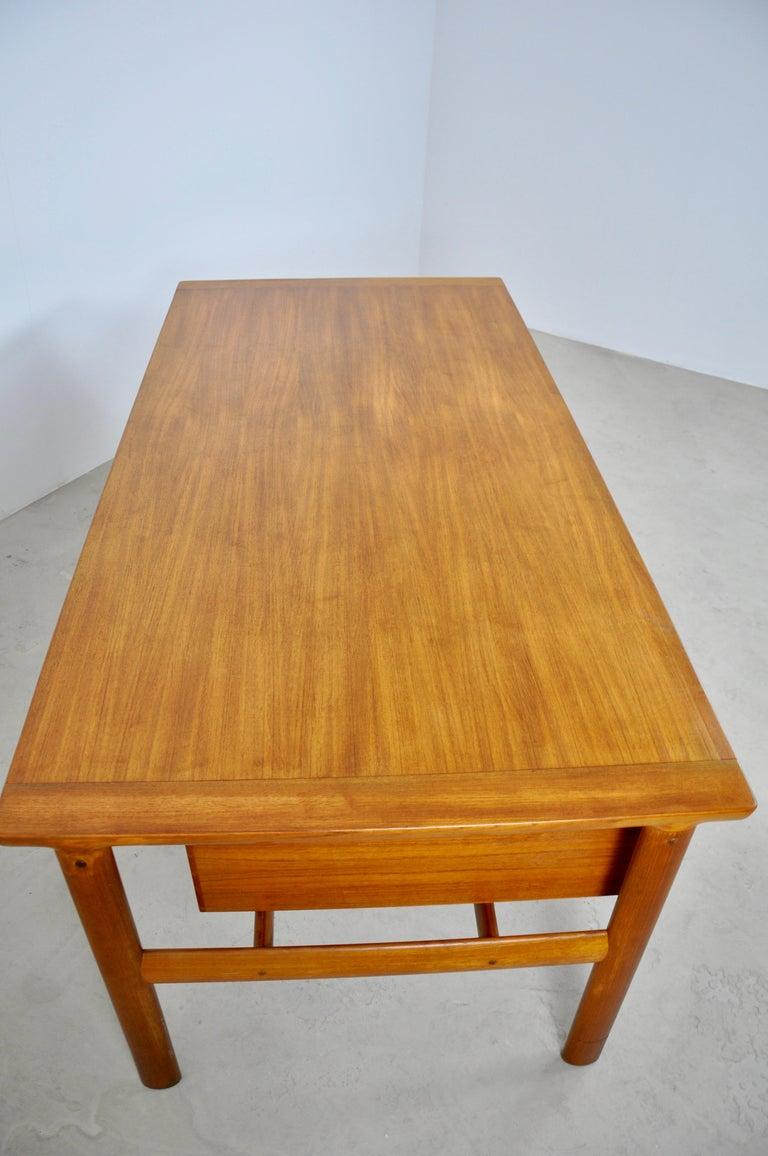 Executive Teak Desk by Arne Vodder for Sibast, 1965 For Sale 4