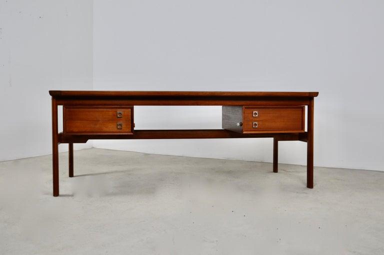 Danish Executive Teak Desk by Arne Vodder for Sibast, 1965 For Sale