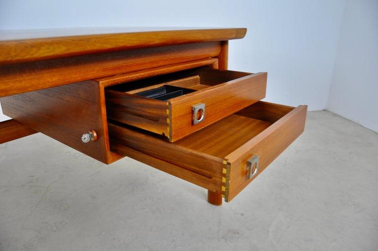 Metal Executive Teak Desk by Arne Vodder for Sibast, 1965 For Sale