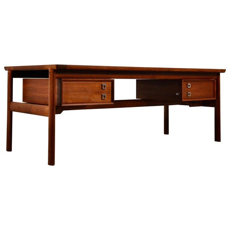 Executive Teak Desk by Arne Vodder for Sibast, 1965 For Sale