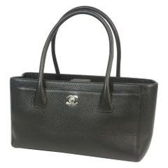 Executive tote  Womens  tote bag A29292  black x silver hardware