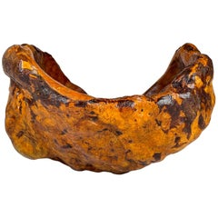 Exeptional Large Swedish Folk Art Organic Burl Bowl, circa 1960s