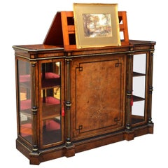 Exhibition Quality Credenza with Picture Stand and Storage
