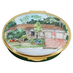 Eximious Ltd Porcelain Limoges Trinket Pill Box No Place Like Home England