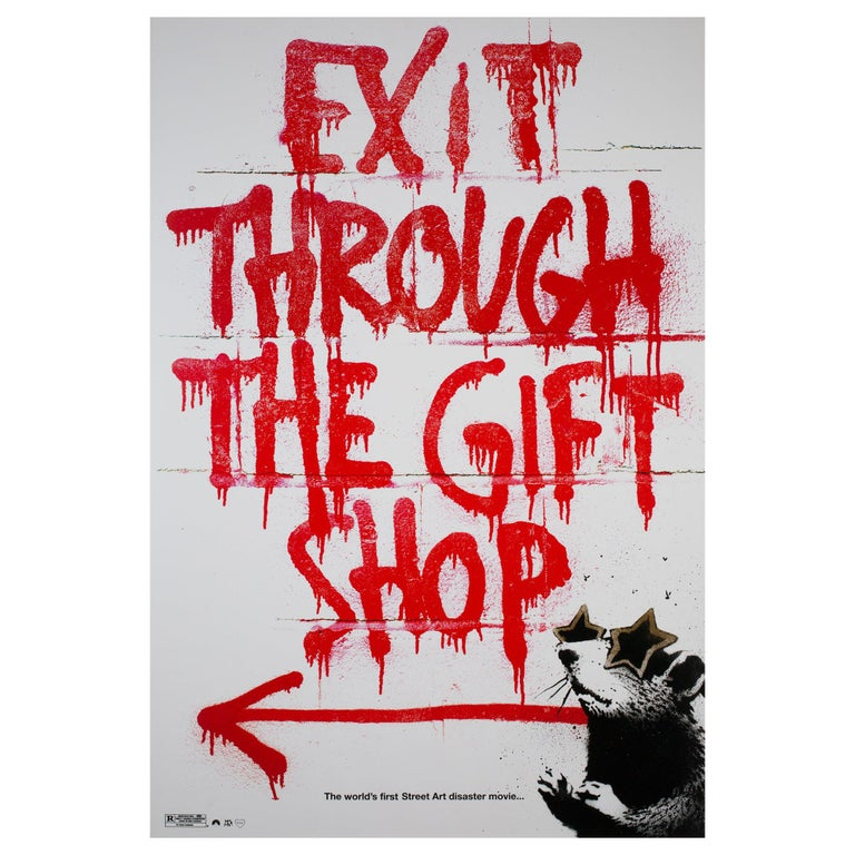 'Exit Through The Gift Shop' 2010 US 1 Sheet Film Poster, Banksy