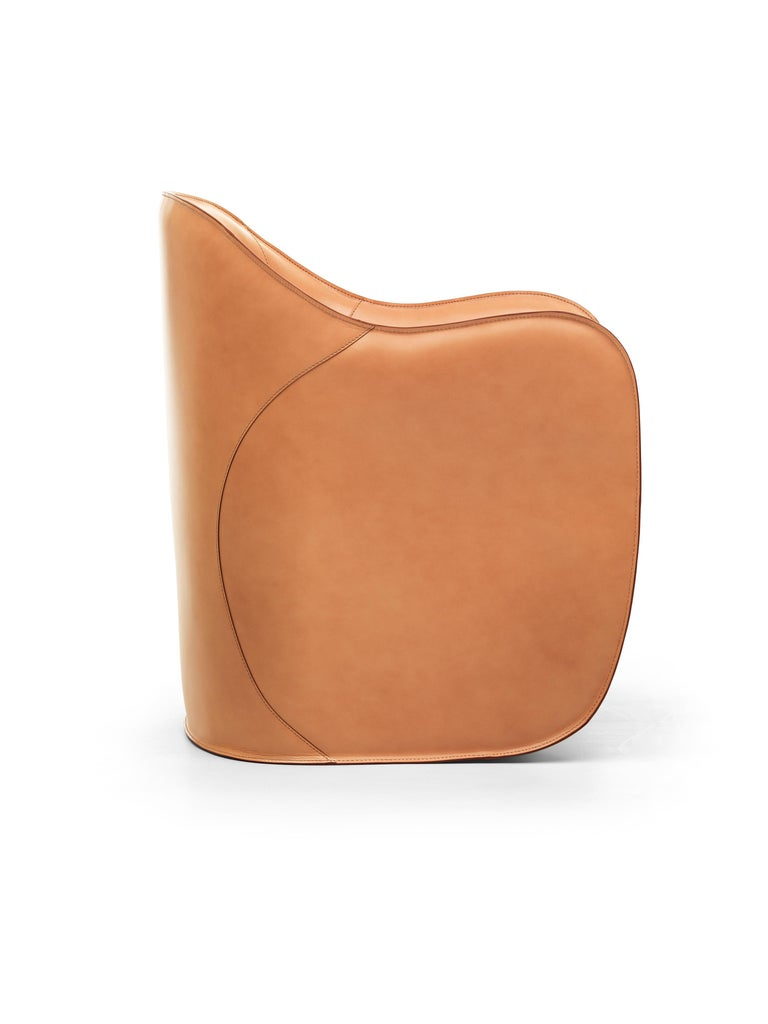 Modern Exo Armchair and Pouf Set For Sale