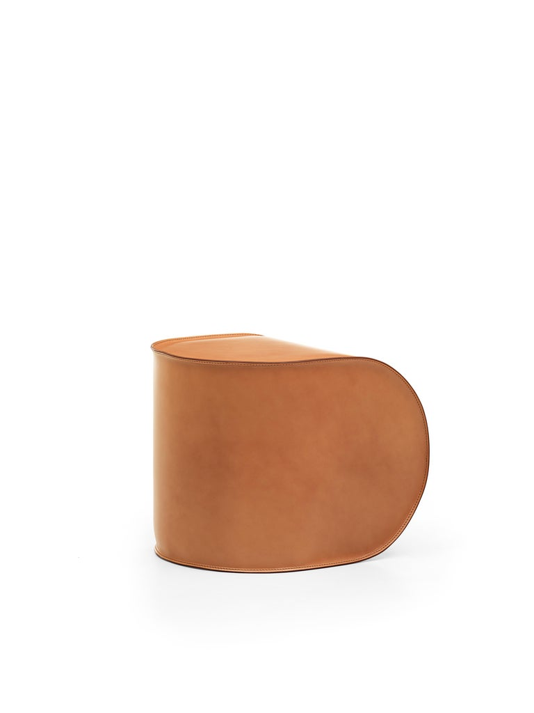 Italian Exo Armchair and Pouf Set For Sale