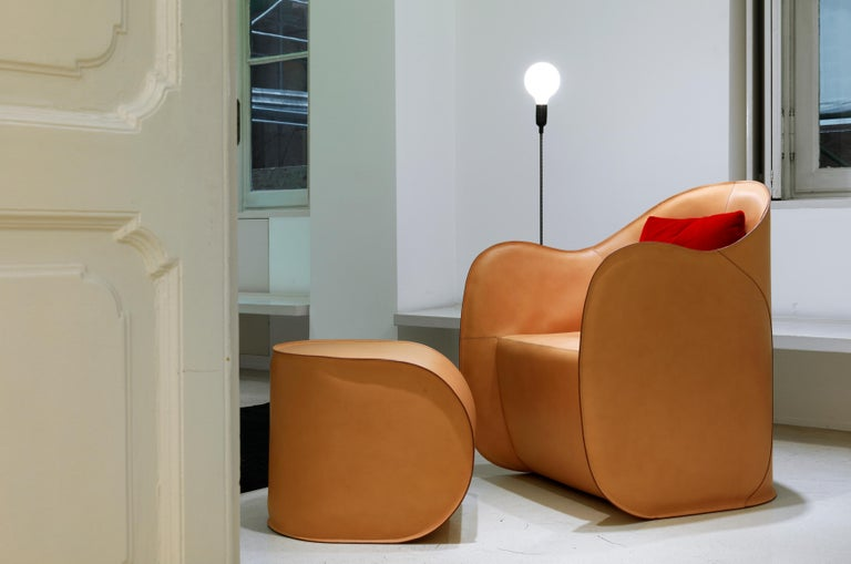 Exo Armchair and Pouf Set In New Condition For Sale In Milan, IT