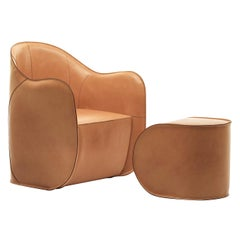 Exo Set of Armchair and Ottoman