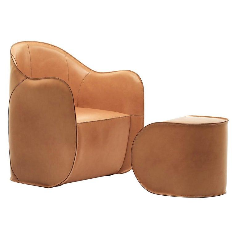 Exo Set of Armchair and Ottoman For Sale