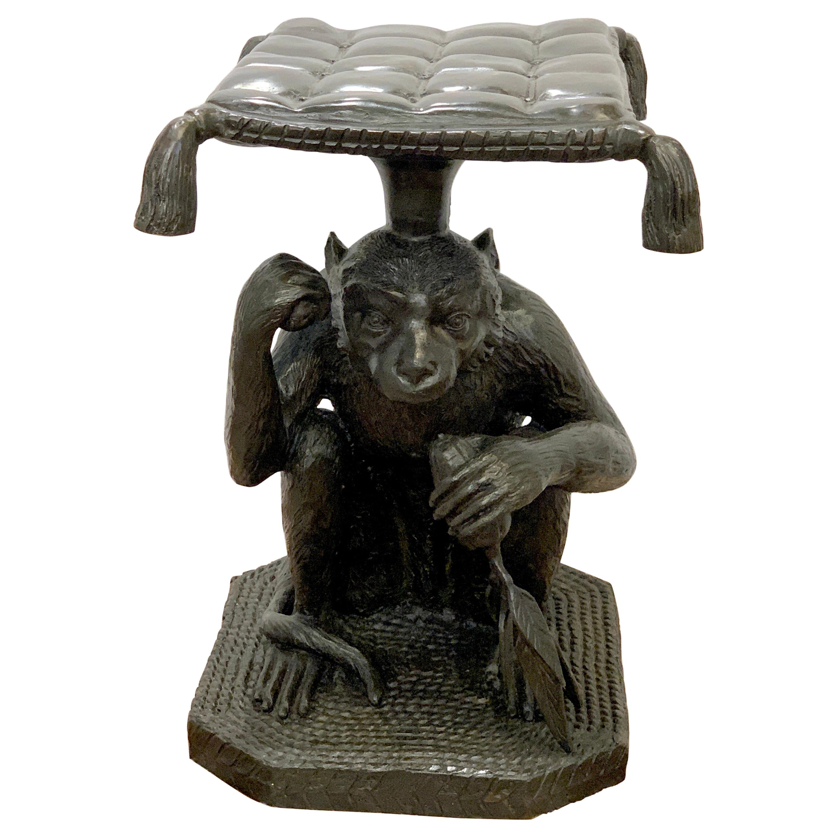 Exotic Bronze Monkey Garden Seat