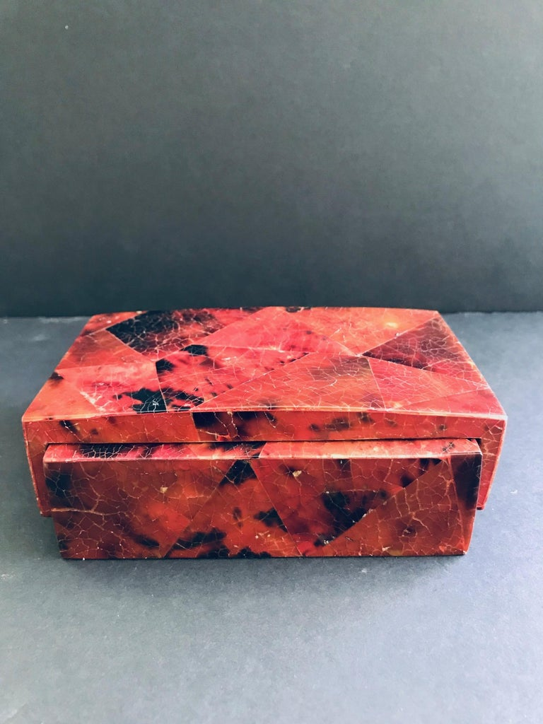 Hand-Crafted Exotic Desk Box in Mosaic Pen-Shell by R&Y Augousti For Sale