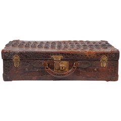 Exotic Early Horn Back Alligator or Crocodile Small Suitcase or Briefcase