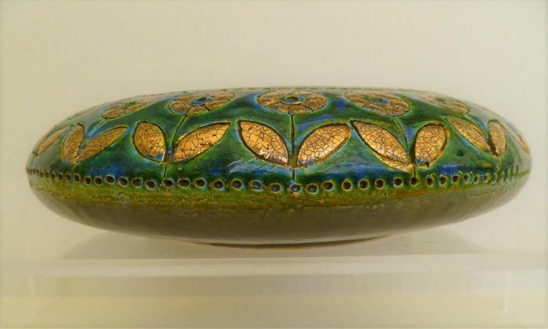 Italian Exotic Mid-Century Modern Thai Silk Ashtray, Aldo Londi for Rosenthal Netter For Sale