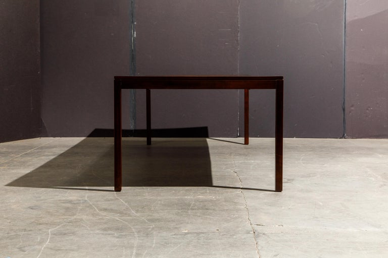 Exotic Mixed Woods Dining Table by Milo Baughman for Directional, circa 1970 For Sale 5