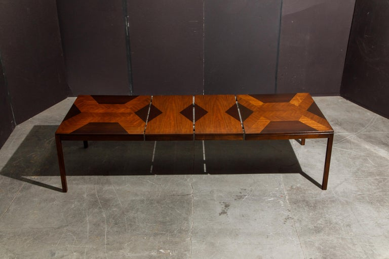 Exotic Mixed Woods Dining Table by Milo Baughman for Directional, circa 1970 For Sale 10
