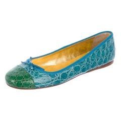 Exotic Prada Crocodile Ballet Flats Ballerina Slippers