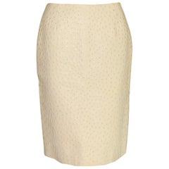 Exotic Prada Ostrich Skin Skirt