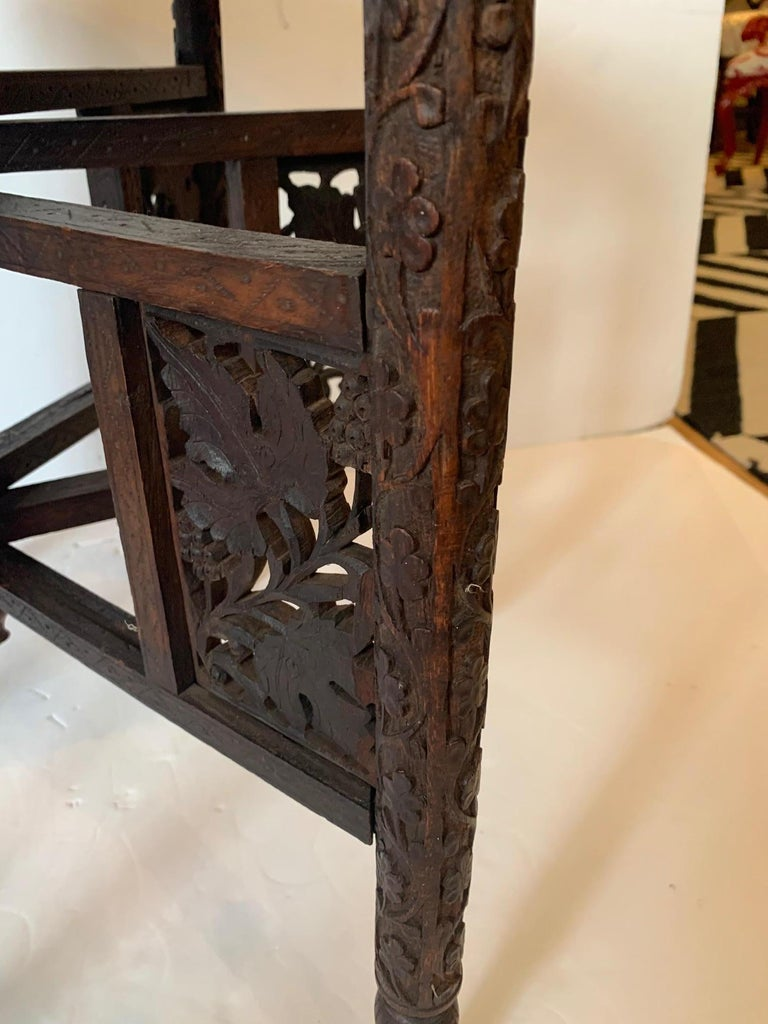 Exotic Round Moroccan Tray End Table For Sale 2
