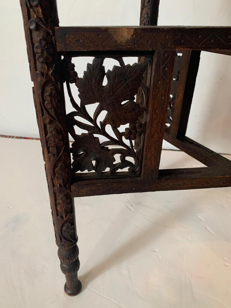 Exotic Round Moroccan Tray End Table For Sale 3