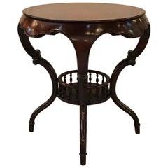 Exotic Shape Mahogany Round Table