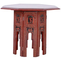 Exotic Thai Hand-Painted Table