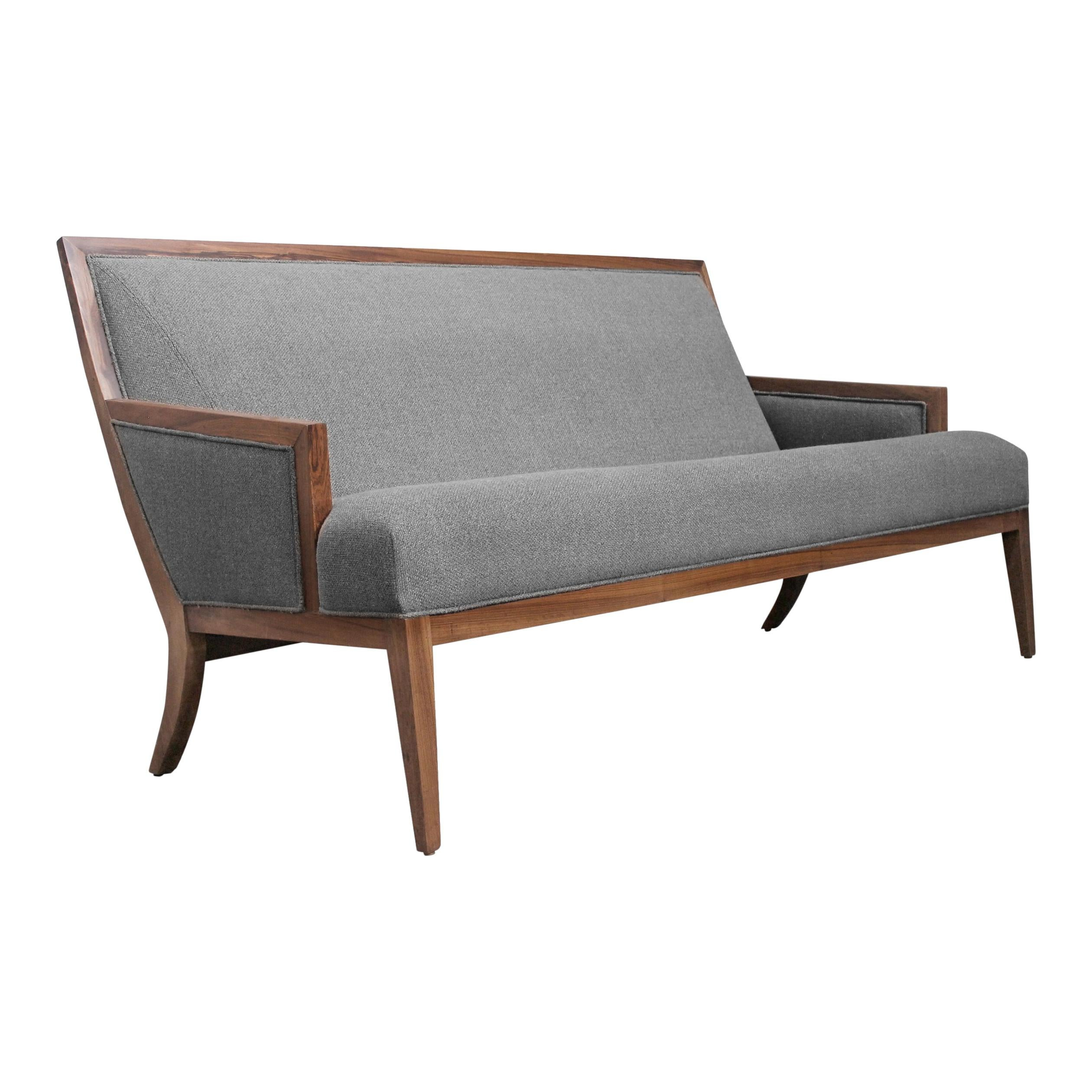 Exotic Wood Contemporary Upholstered Settee from Costantini, Belgrano