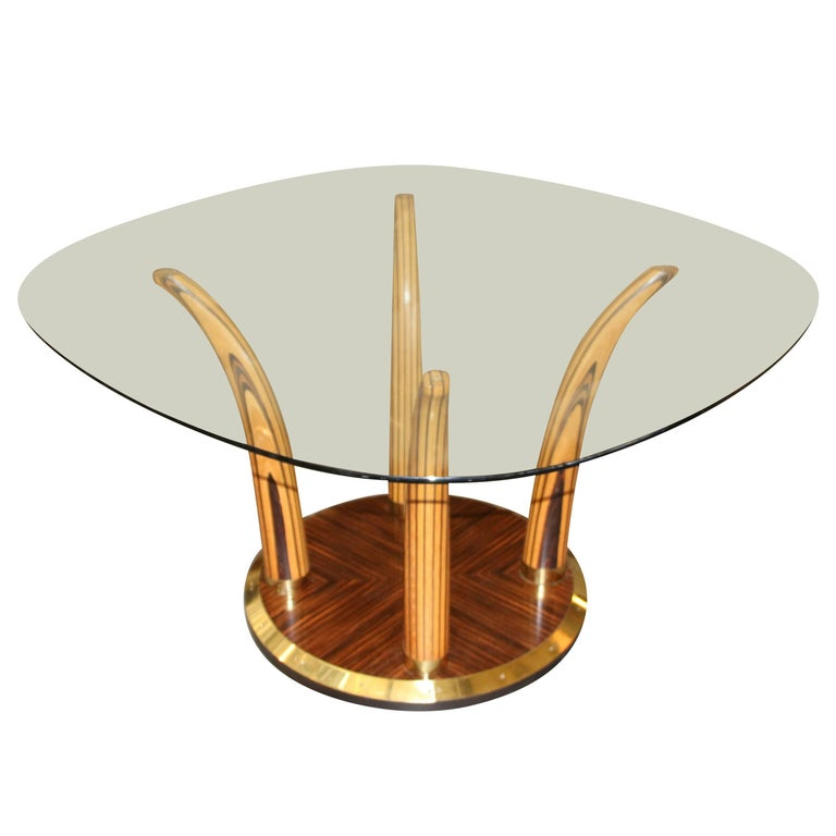 Exotic Wood Henredon Dining or Centre Hall Table For Sale ...