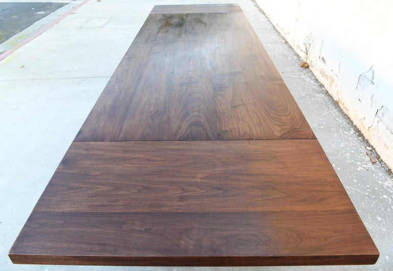 Expandable Barley Twist Dining Table Made from Walnut For Sale 7
