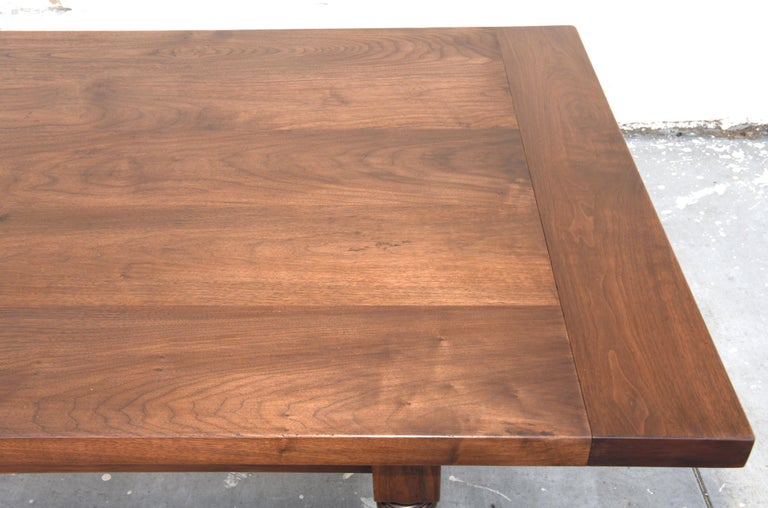 Contemporary Expandable Barley Twist Dining Table Made from Walnut For Sale