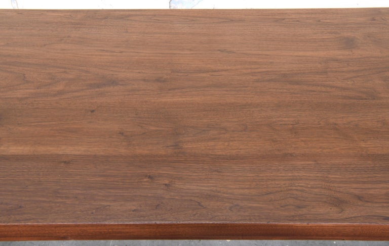 Expandable Barley Twist Dining Table Made from Walnut For Sale 1