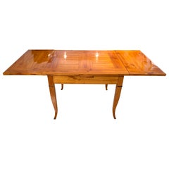 Expandable Biedermeier Table, Cherry Massive, South Germany, circa 1820