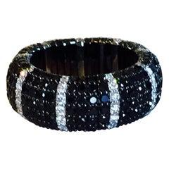 Expandable Black Diamond Band Ring