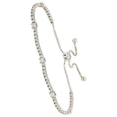 Expandable Diamond Tennis Bracelet 2 Carat