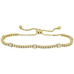 Expandable Diamond Tennis Bracelet 2 Carat