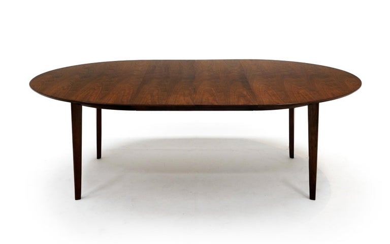 Mid-20th Century Expandable Dining Table by Edward Wormley for Dunbar, Almost Round to Oval For Sale